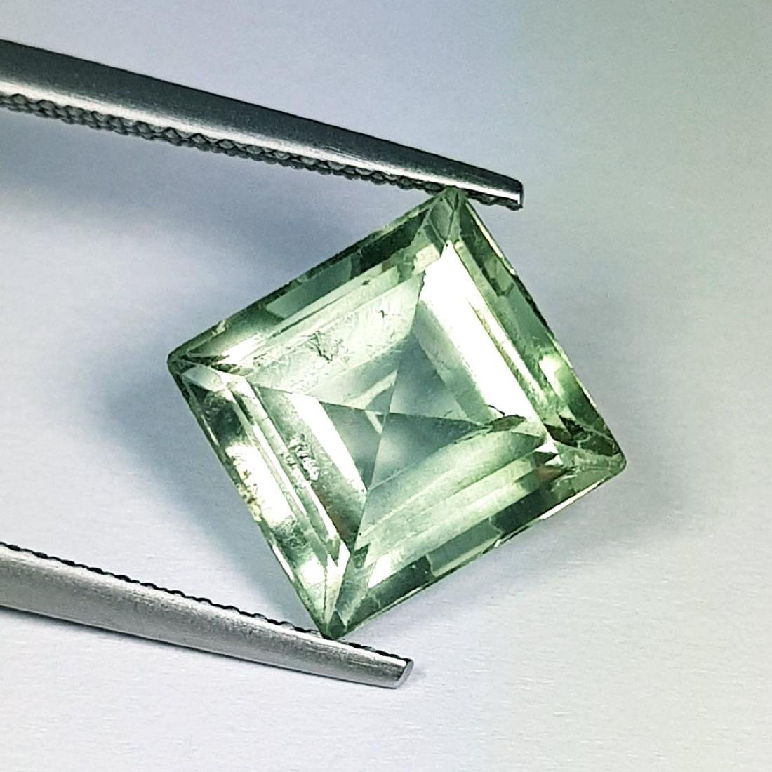 Natural Green Amethyst Square Cut 5.60 ct