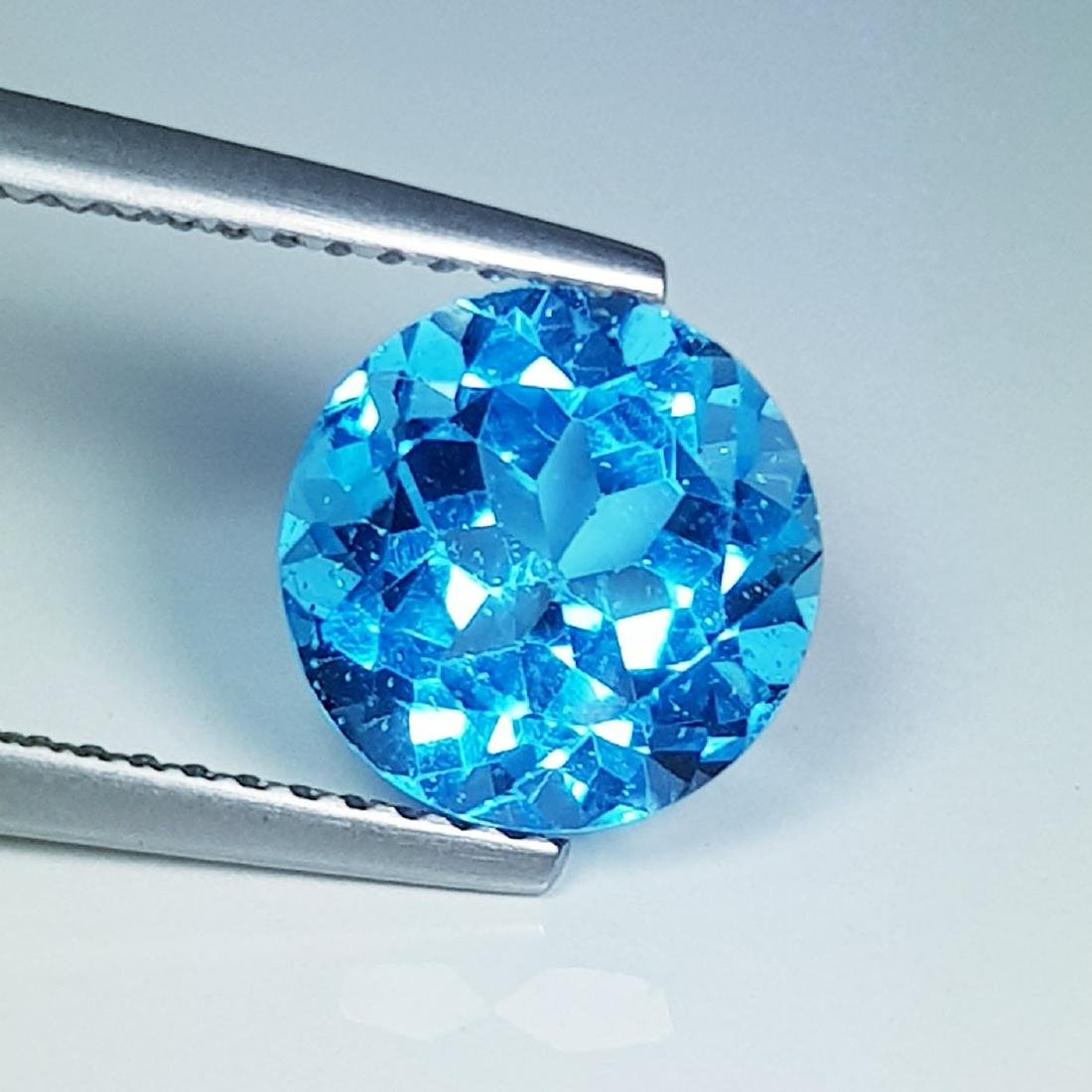 Natural Blue Topaz Round Cut 2.85 ct