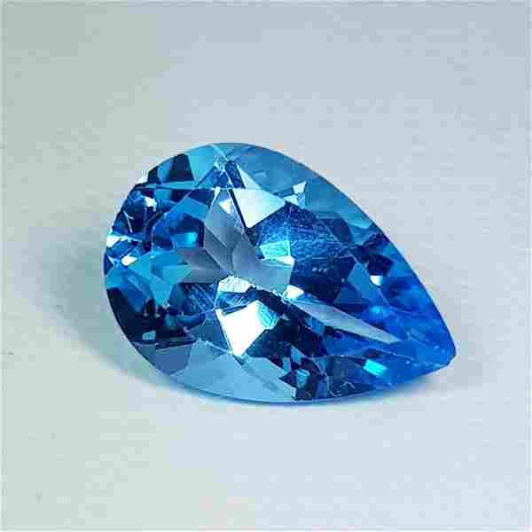 Natural Blue Topaz Pear Cut 2.75 ct