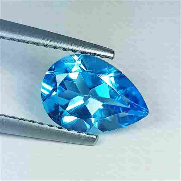 Natural Blue Topaz Pear Cut 1.80 ct