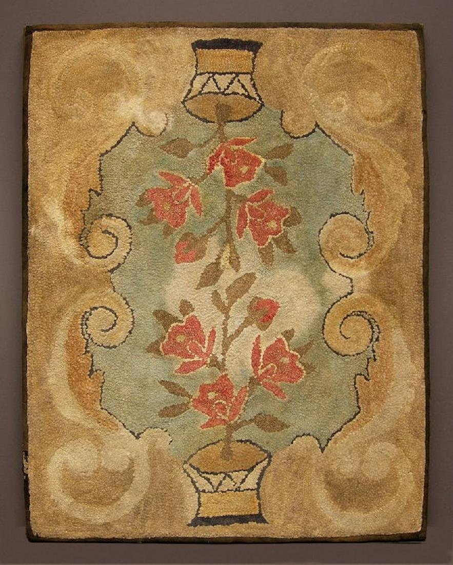 Folky Hooked Rug