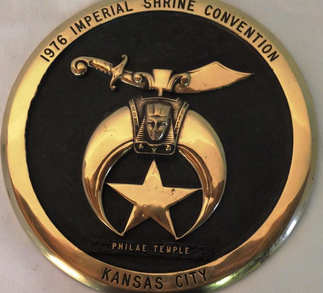 Shriner Convention Commemorative Plaque