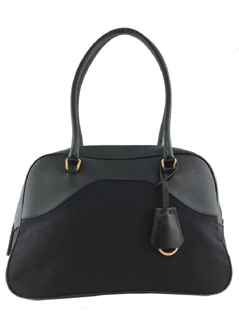 Prada Tessuto Nylon and Leather Satchel Bag