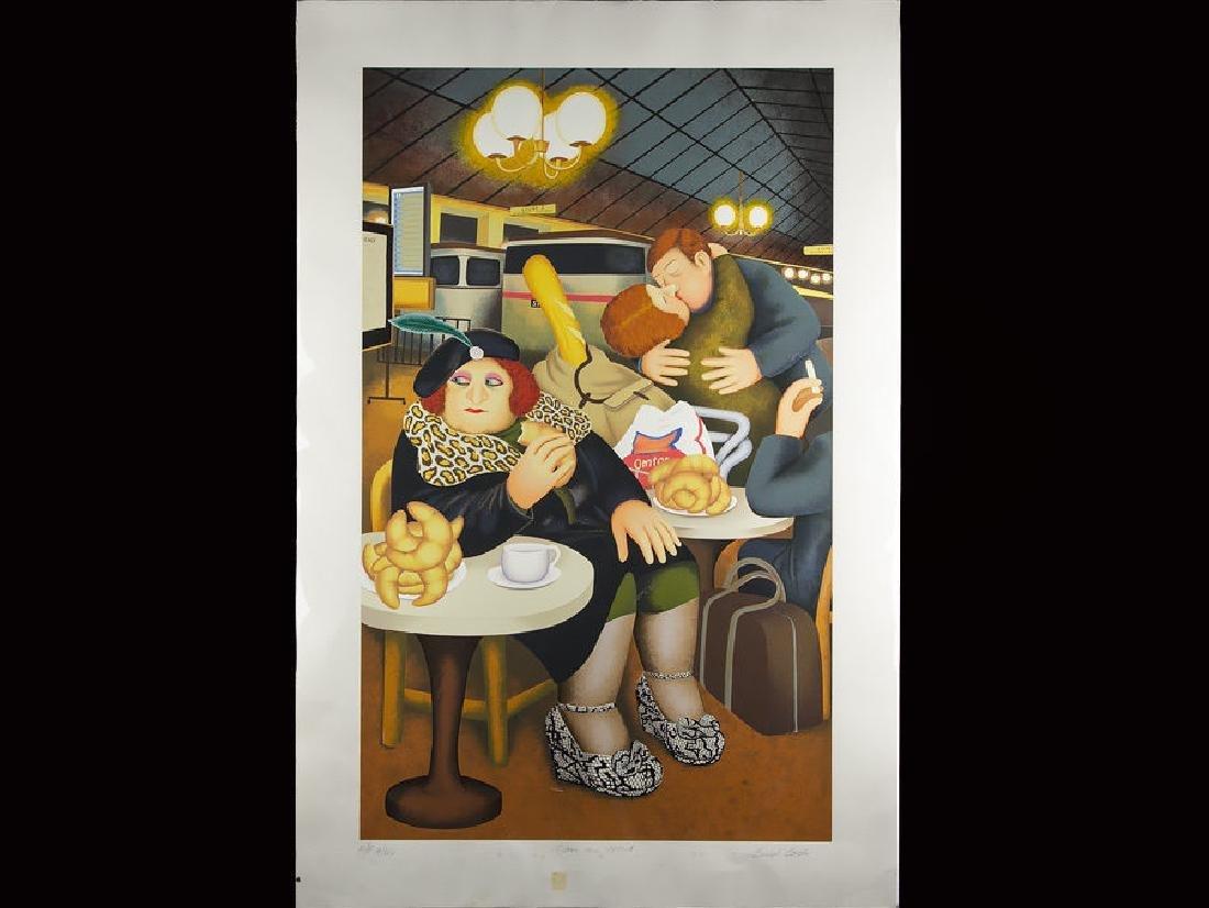 Beryl Cook Gare du Nord Signed Artist Proof Print