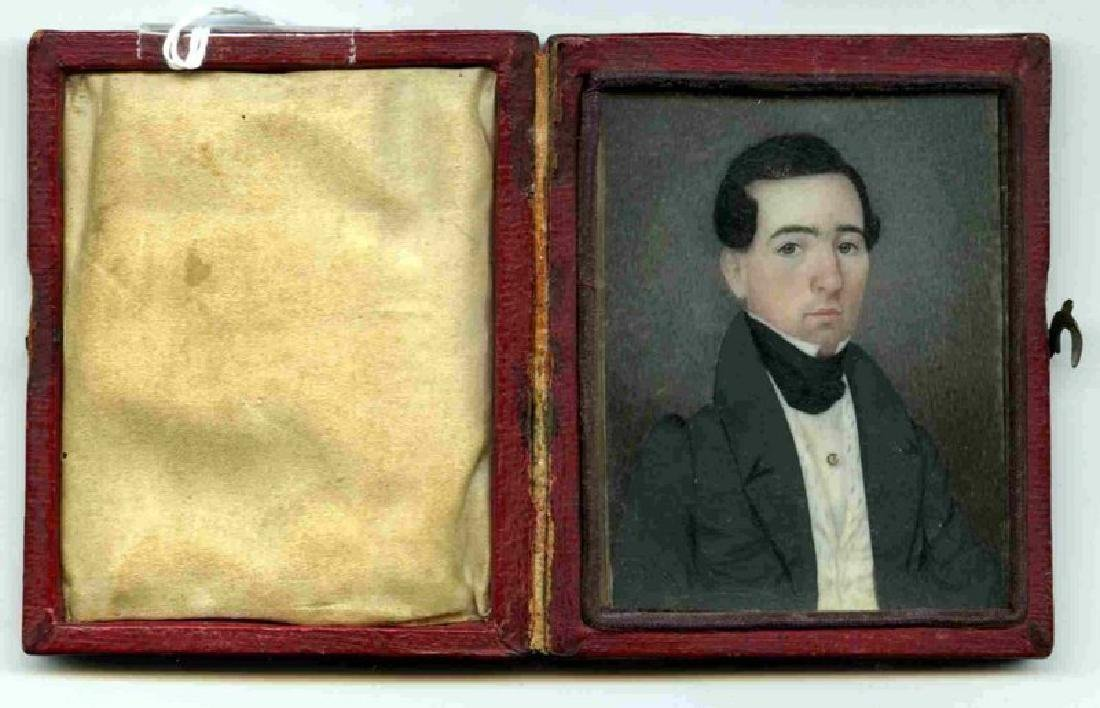 American Miniature Portrait Painting c1835