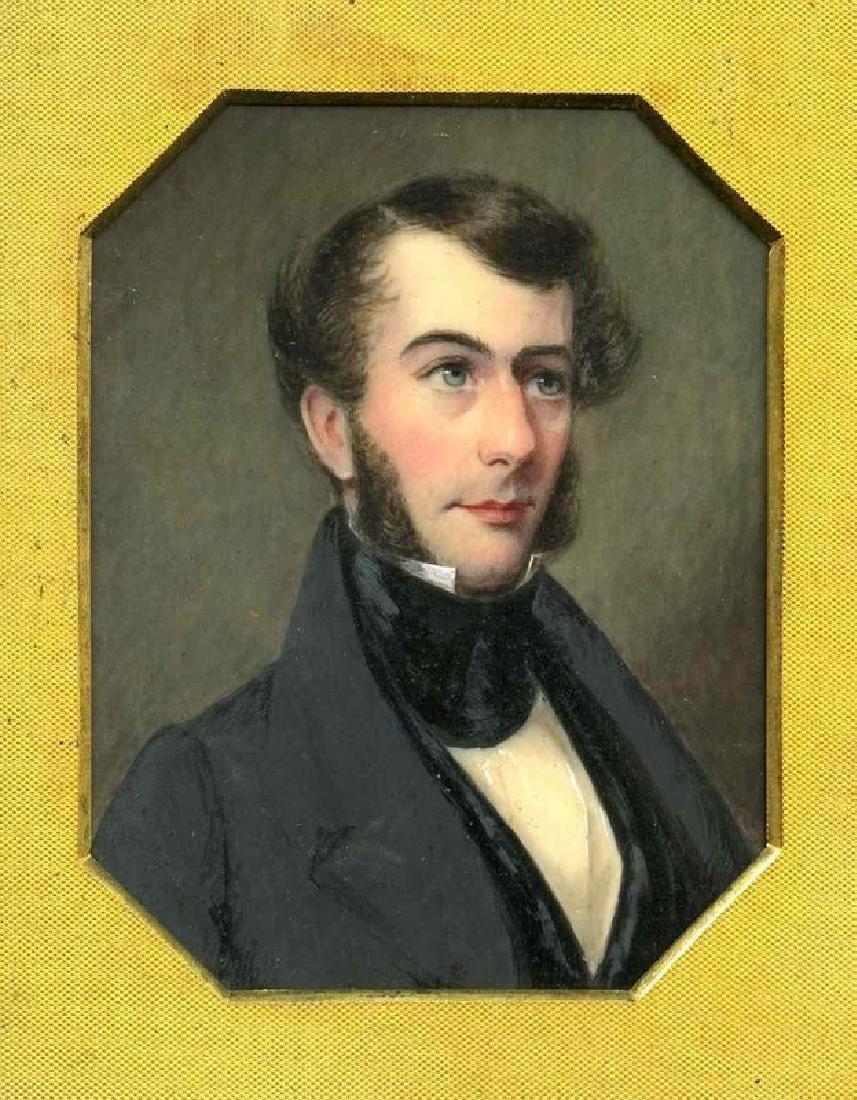 Hugh Bridport Miniature Portrait Painting c1840