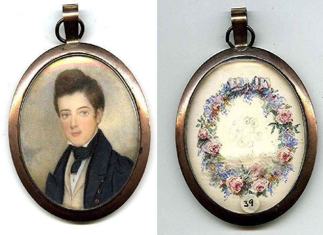 American Miniature Painting of Boy c1835