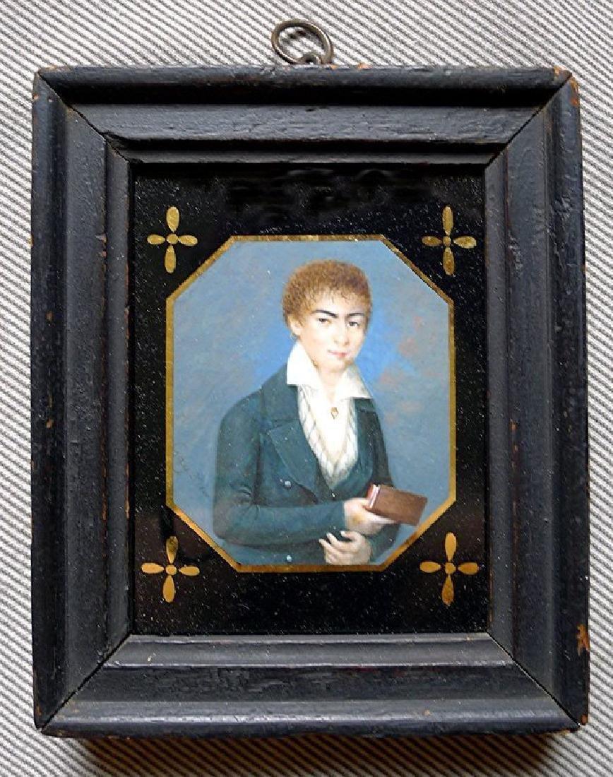 Rare Miniature Portrait of a Cabin Boy c1820