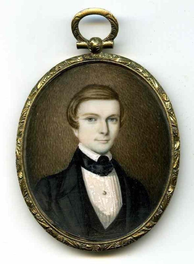 Fine American Miniature Portrait of a Boy c1845