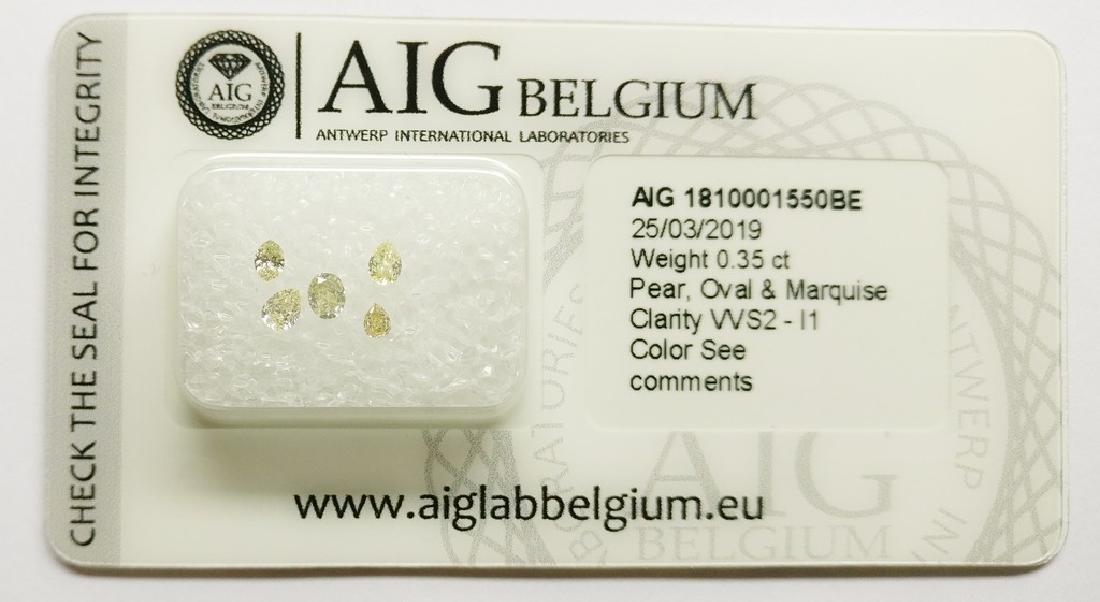 0.35 ct Mixed Shapes diamond Mixed Colors VVS2-I1, AIG