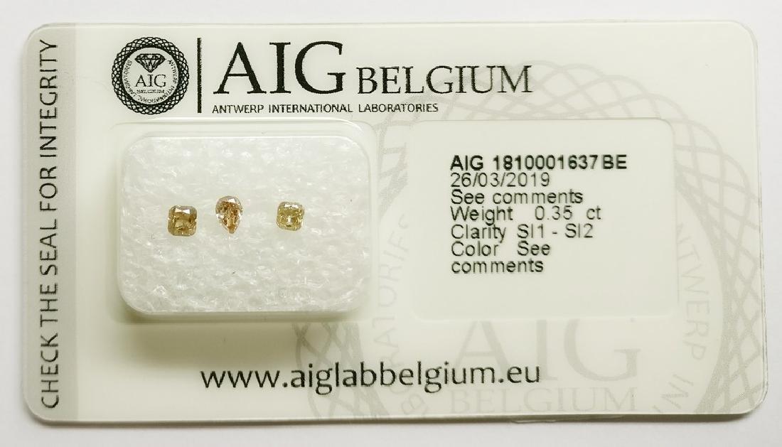 0.35 ct Mixed Shapes diamond Mixed Colors SI1-SI2, AIG