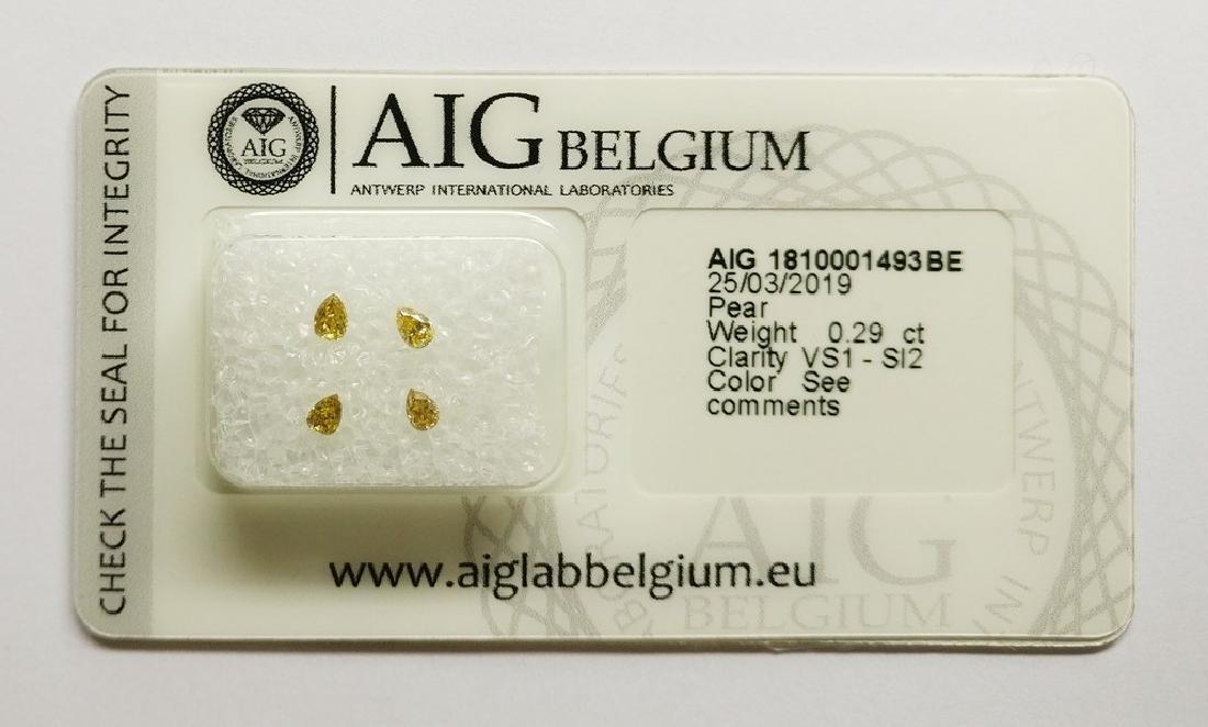 0.29 ct Pear diamond Mixed Colors VS1-SI2, AIG