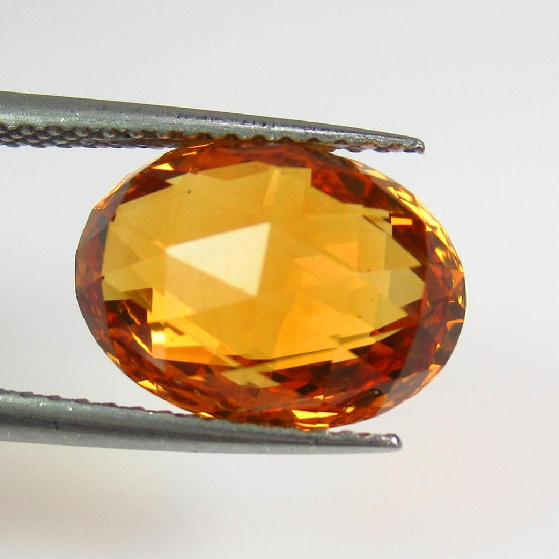 4.60 Ct Natural Madeira Citrine Oval Checkerboard Cut