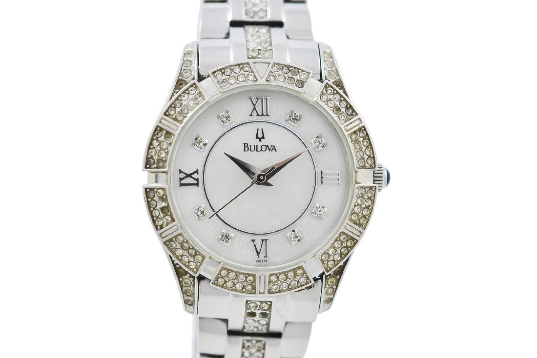 Pre-Owned Bulova Mother of Pearl Dial C8337050 Watch