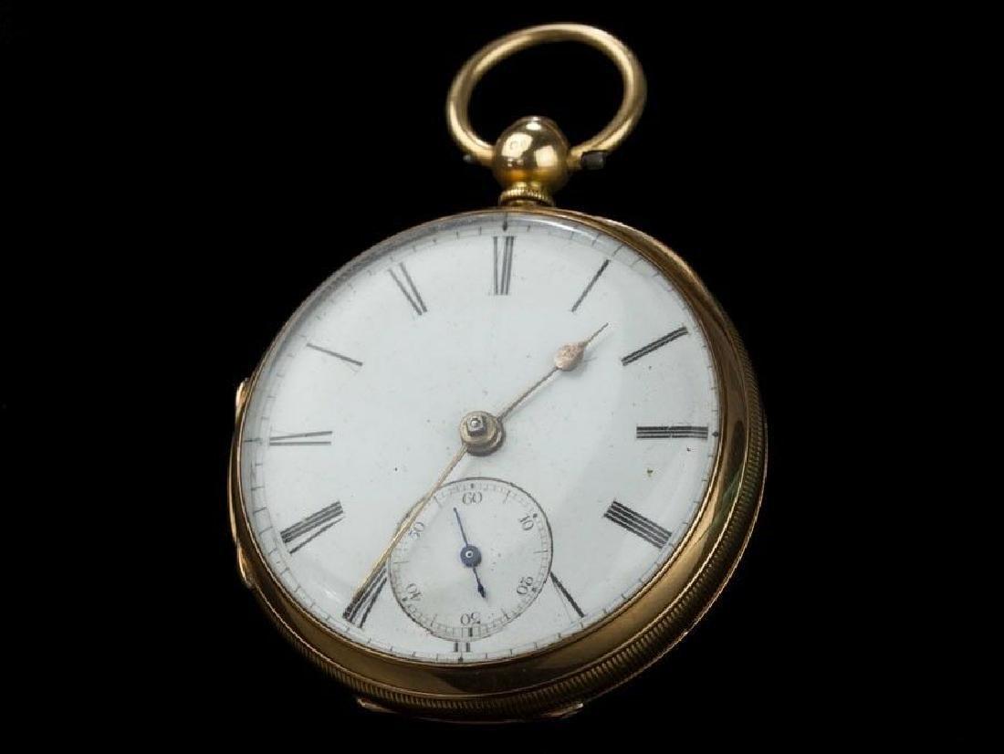 1887 Chester Hallmarked 18 Carat Gold Fusee Pocket