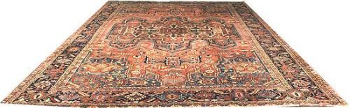 An Antique Oversize 11' x 15' Persian Heriz Rug