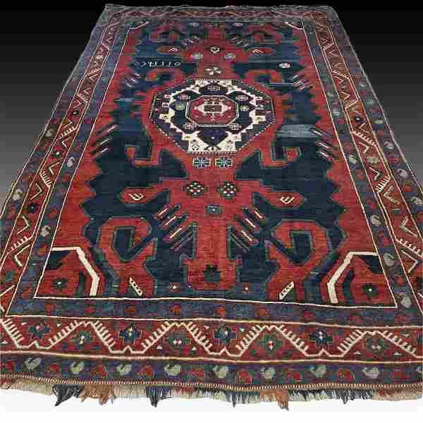 Antique '1930' Karabagh Kazak rug - 8.9 x 5.6