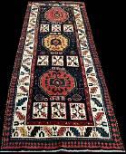 An Antique Decorative Persian Bakhtiari Runner Rug