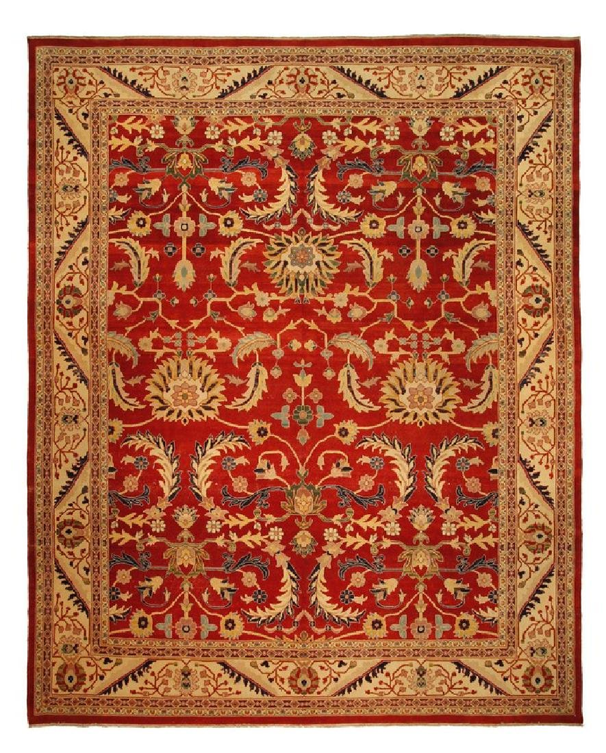 Antiqued Mahal Rug Persian Vintage Egyptian Hand