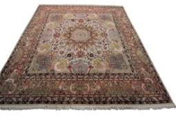 Fine Vintage Persian Tabriz Wool & Silk Rug Square