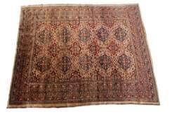 Mid 1800's Rare Antique Silk Heriz Rug Finest