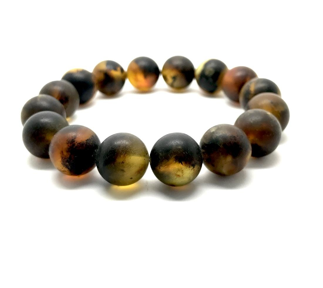 Vintage Baltic Amber bracelet cognac beads