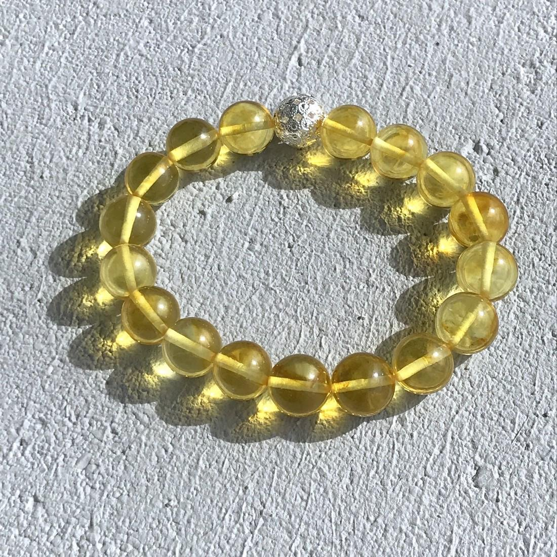 Baltic amber bracelet and sterling silver beads