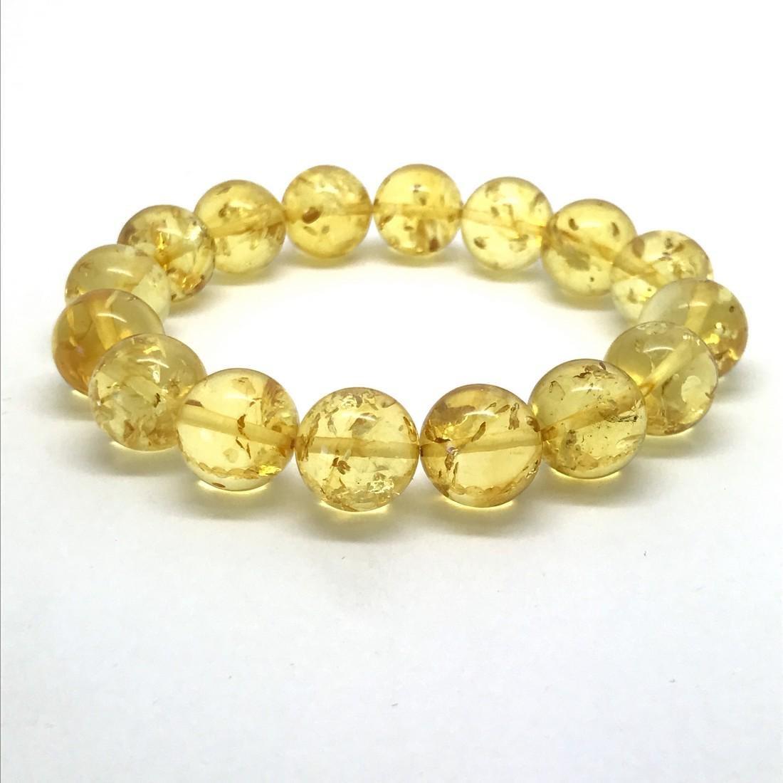 Baltic amber bracelet honey beads