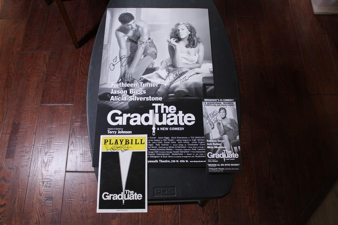 """Signed Poster and Program """"The Graduate"""""""