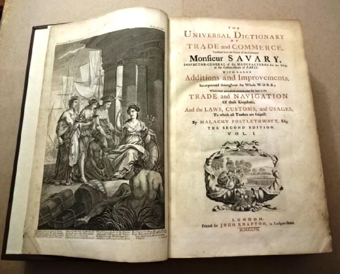 1757 Trade and Commerce Rare Maps Knapton