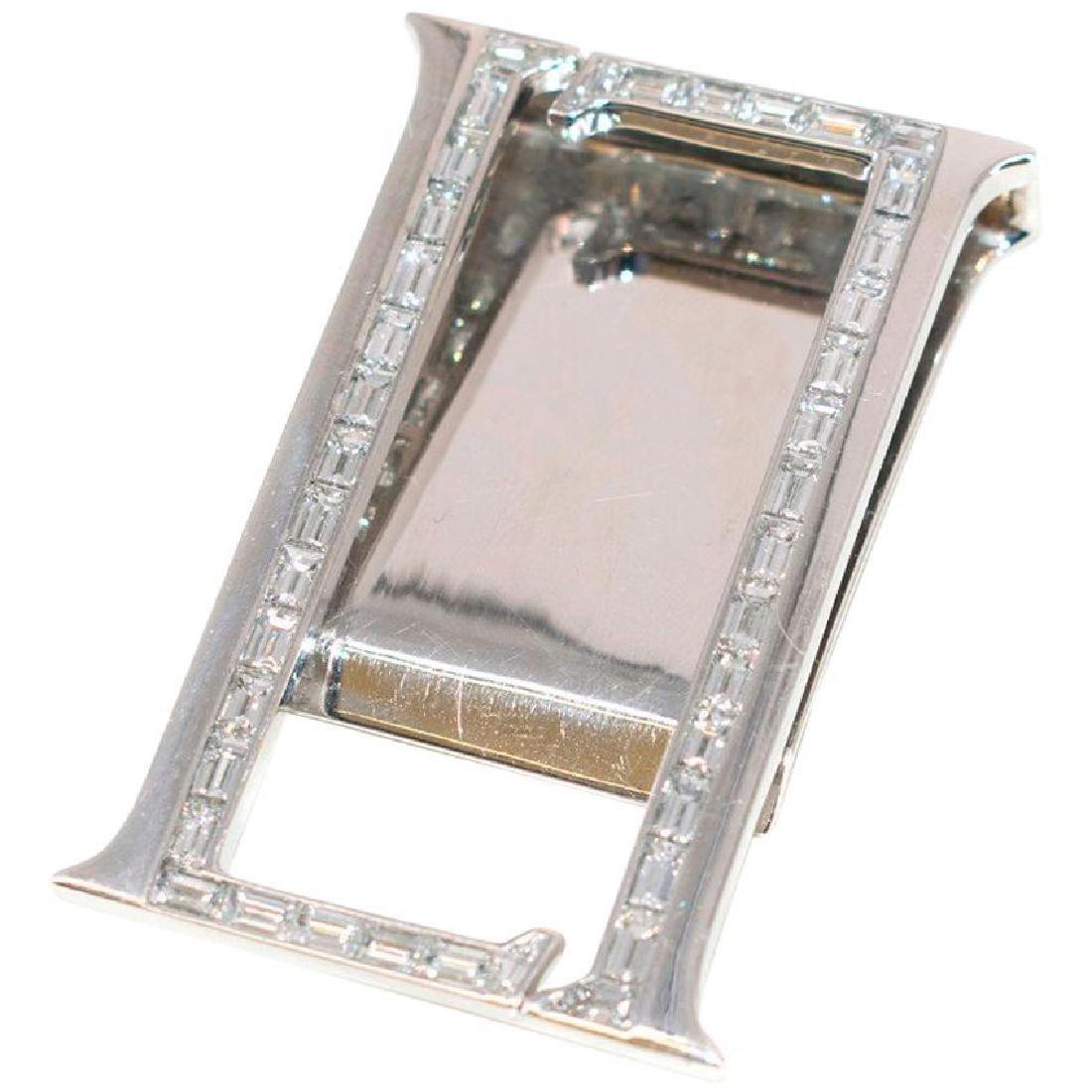 Leviev White Gold Baguette Cut Diamond Money Clip