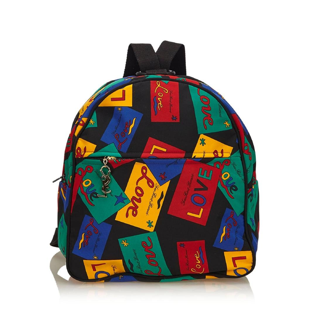 YSL Love Printed Nylon Backpack