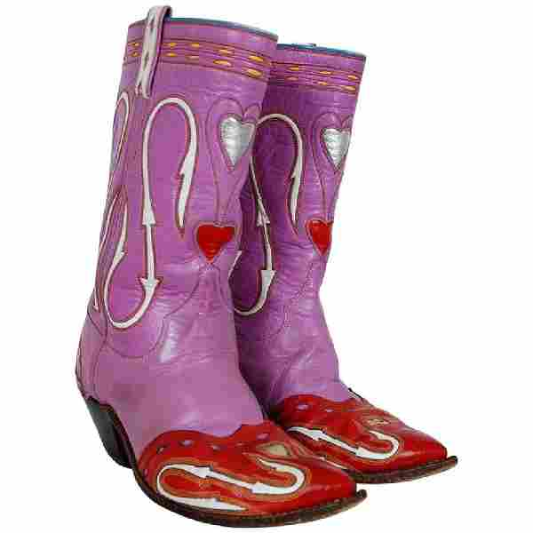 1950's Rare Nudie's Rodeo Tailor Novelty Hearts Purple
