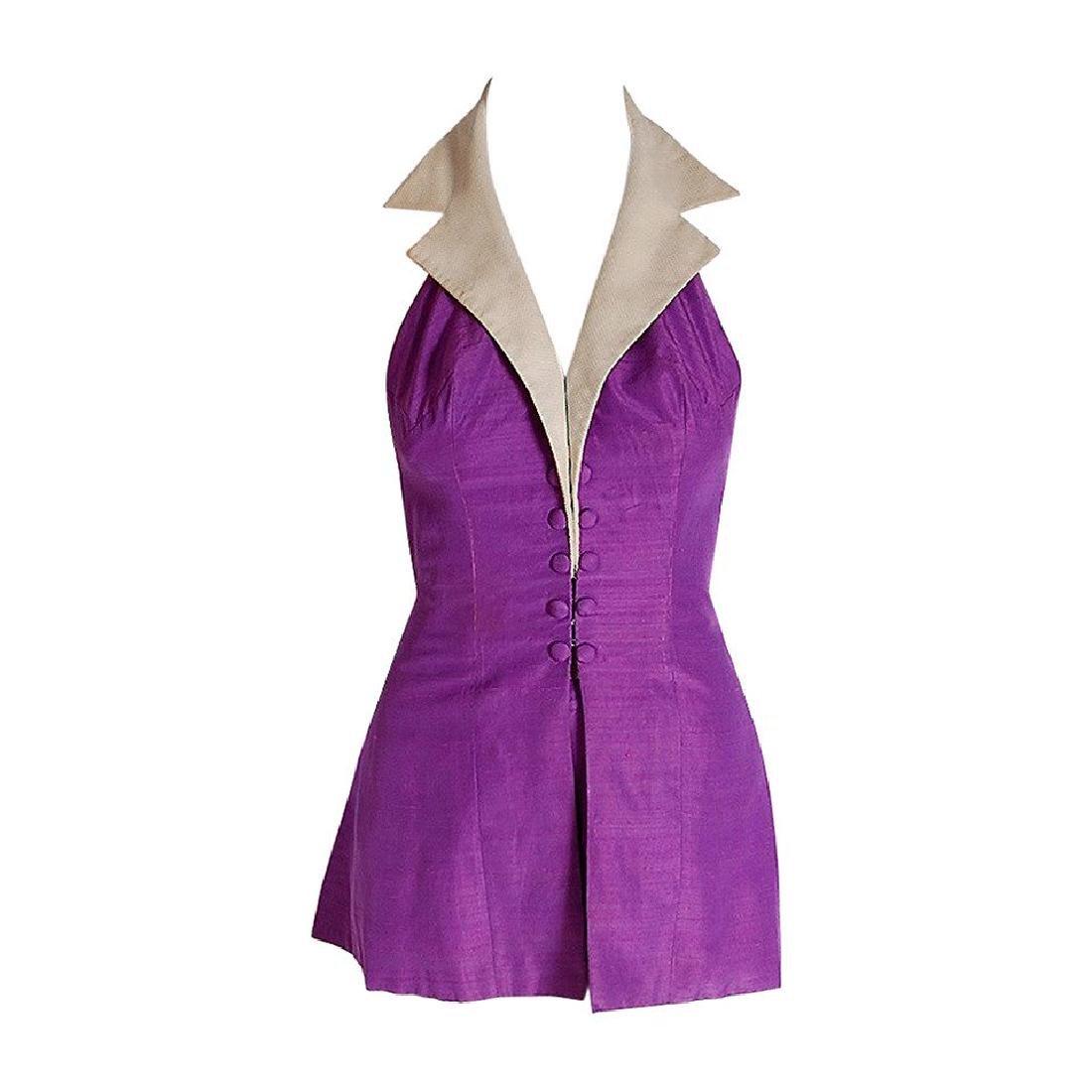 1940's Gloria DeHaven Celebrity Worn Purple-Silk Halter