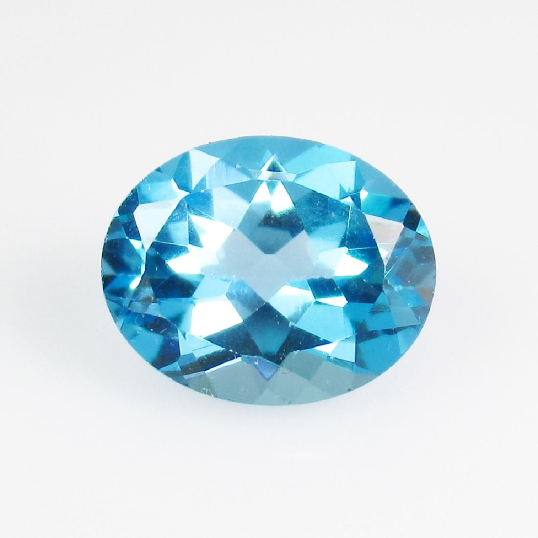 2.64 Ct Genuine Blue Topaz 10X8 mm Oval Cut