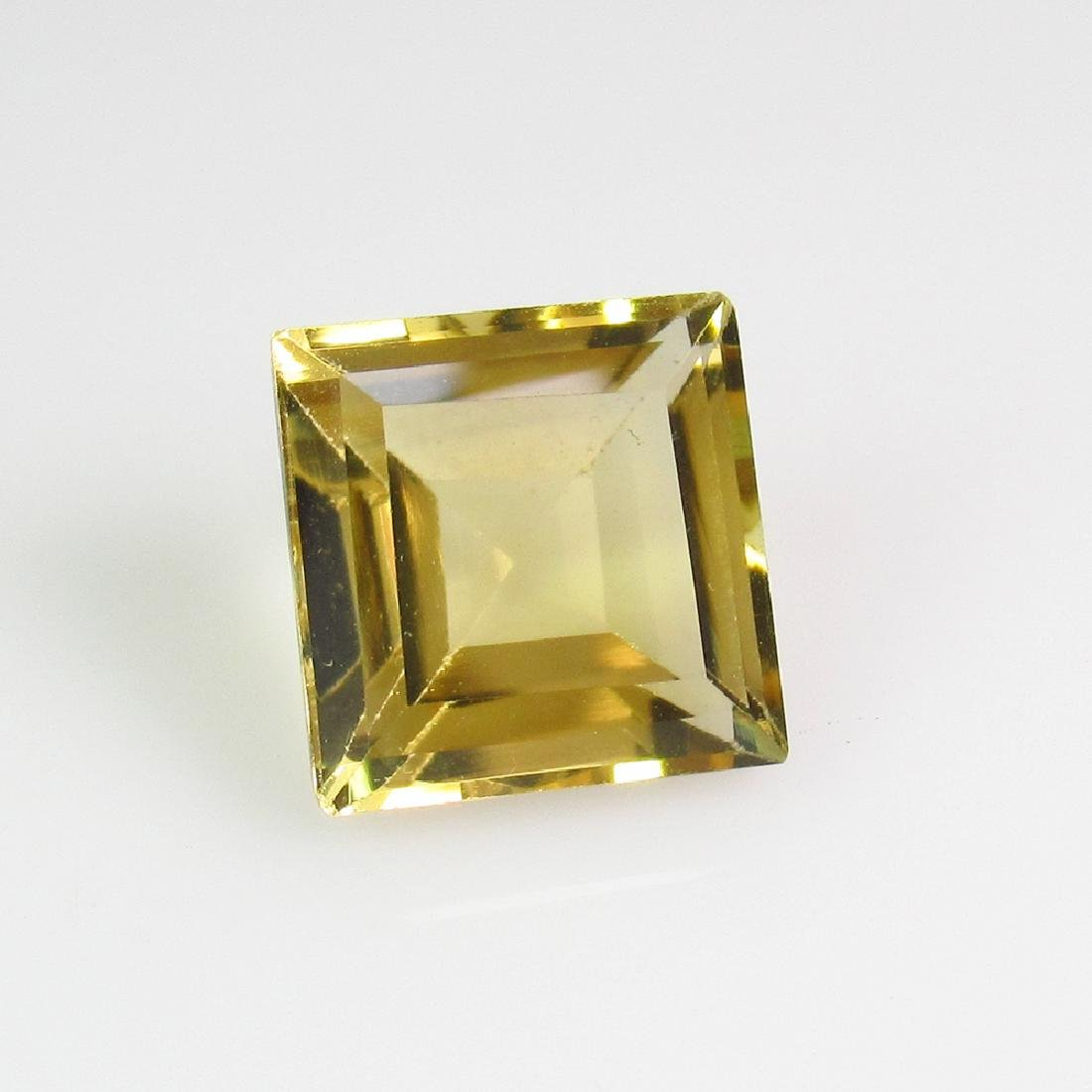 3.36 Ctw Natural Citrine 9X9 mm Square Cut