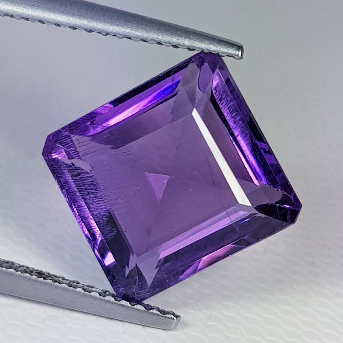 Natural Amethyst Square Cut 6.40 ct