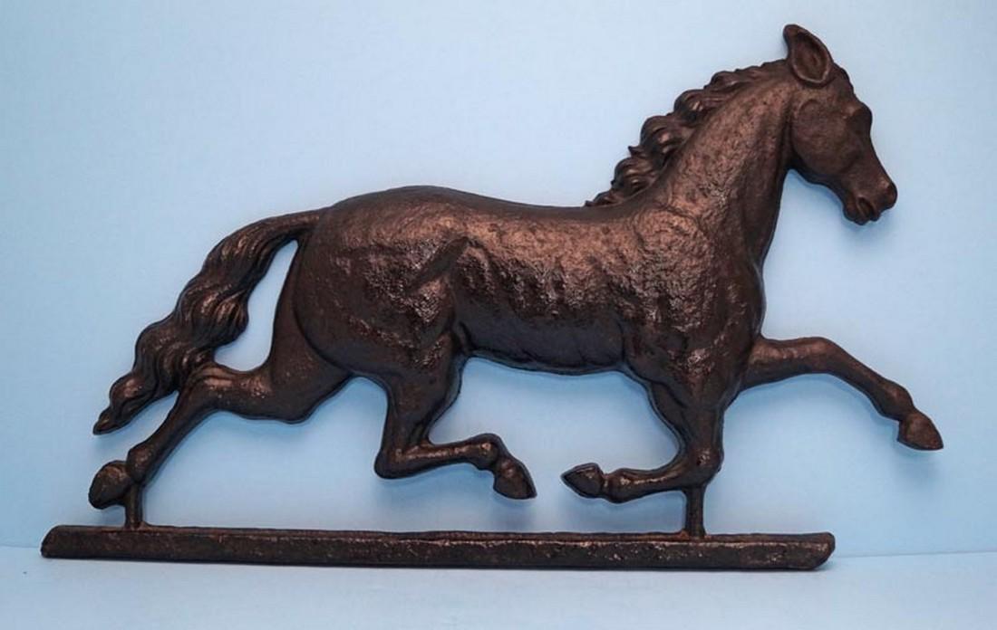 Antique Cast Iron Horse Trade Sign