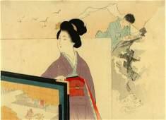 EISEN, Tomioka (1864-1905) attr. to A kuchi-e