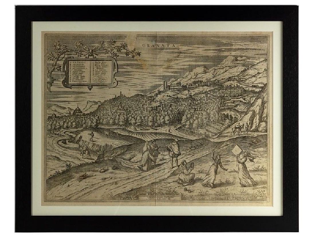 c1565 View of Granada Uncoloured Print by Georgius