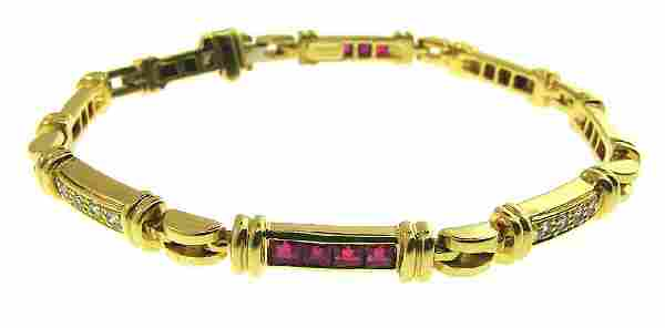 Vintage Tiffany & Co. 18k Yellow Gold Diamond and Ruby