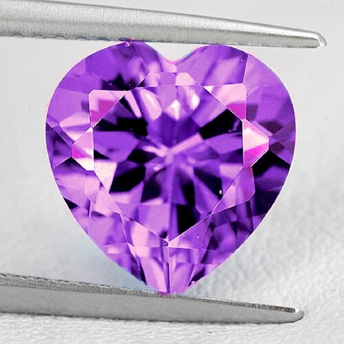 2.20 ct amethyst heart