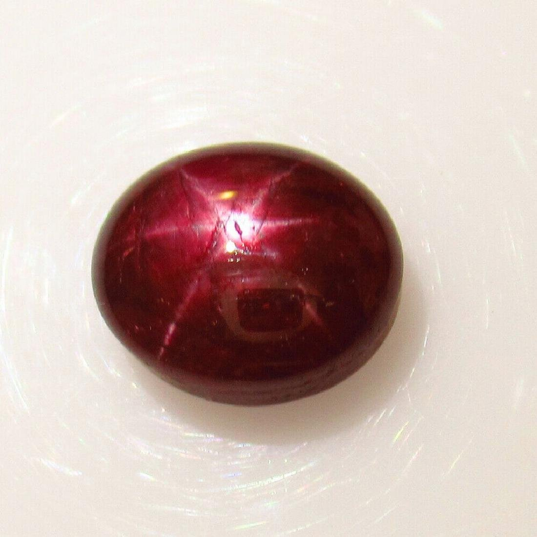 3.94 Ctw Natural Six Line Star Ruby Oval Cab