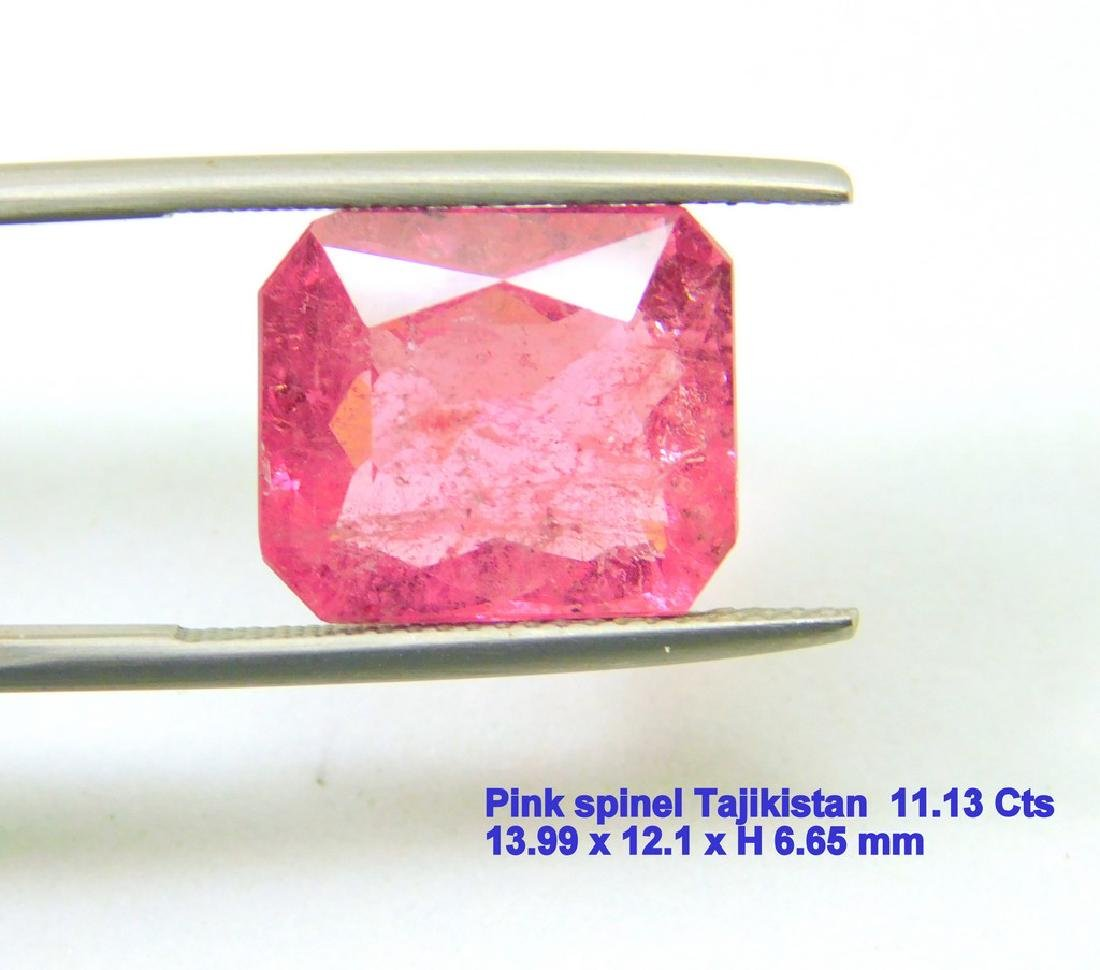 GFCO certified Vivid pink Spinel 11.13 cts
