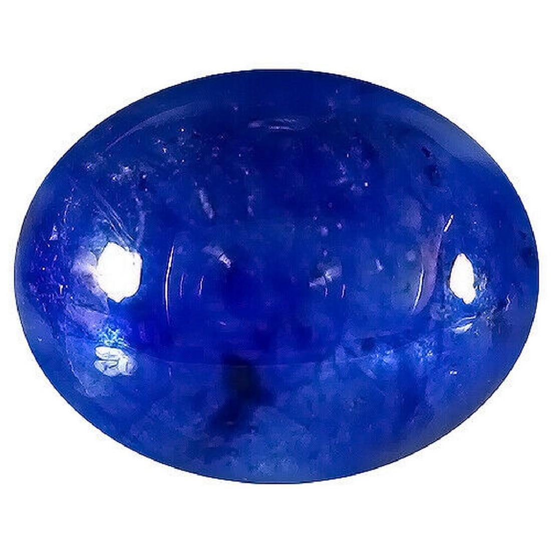 5.56 ct AAAA grade blue sapphire cab