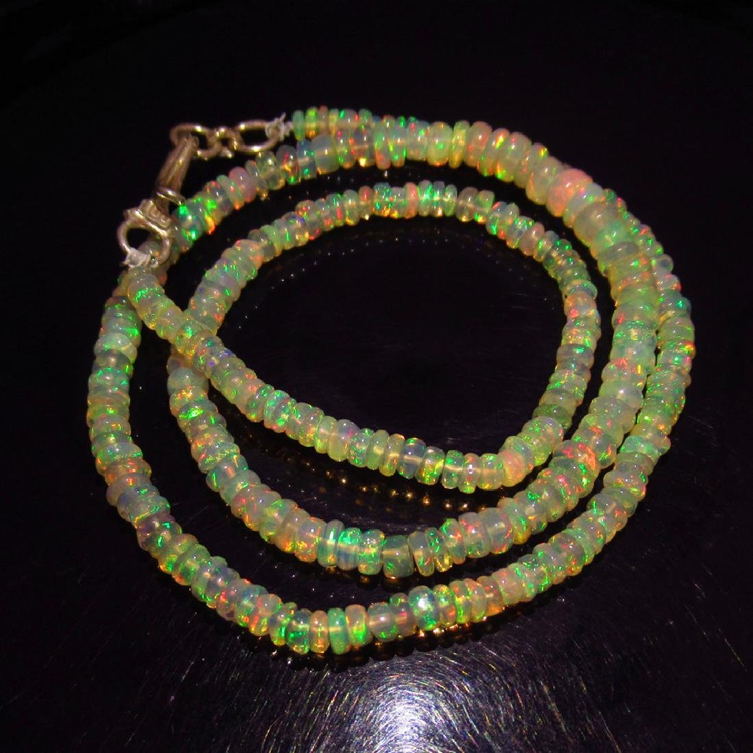 37.18 Ct 925 Sealed Silver Natural 298 Opal Beads