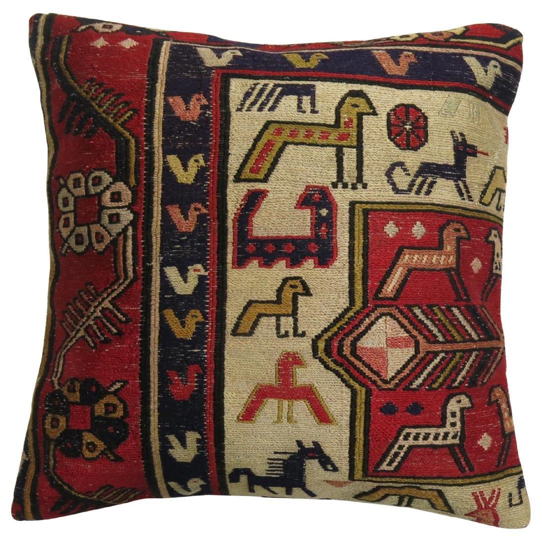 Pictorial Folk Art Soumac Pillow