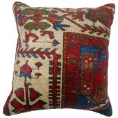Vintage Shabby Persian Rug Pillow