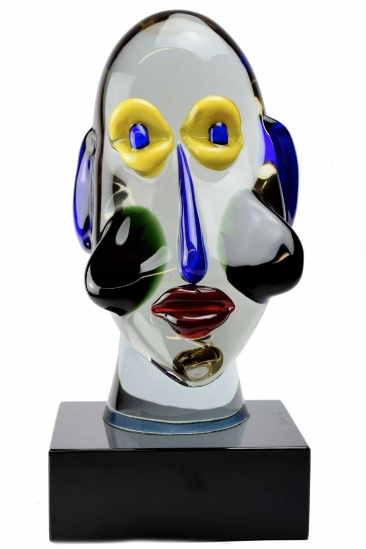 "Giuliano Tosi - Murano glass sculpture "" Mambo "" signed"