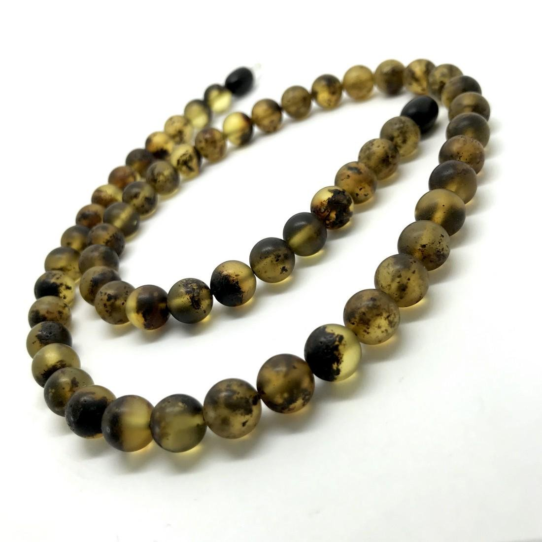 Vintage Baltic amber necklace 46cm beads 8mm honey